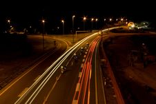 Free Highway By Night Royalty Free Stock Image - 5855086