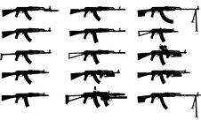 Free Assault Rifles Royalty Free Stock Photography - 5855097