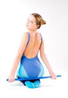 Free Emotional Gymnast Girl Stock Photo - 5855290
