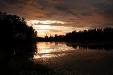 Free Lake At Sunset Royalty Free Stock Photos - 5855318