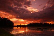 Free Lake At Sunset Stock Photo - 5855330