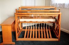 Free Old Weaving Loom - User S View Royalty Free Stock Photos - 5855358