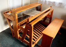 Free Old Weaving Loom From The Top Royalty Free Stock Images - 5855359