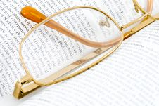 Free Glasses On Books Stock Image - 5855461