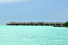 Free Maldives, Welcome To Paradise! Stock Images - 5855624