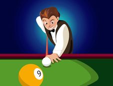 Free Nine Ball Shot Stock Photos - 5855753