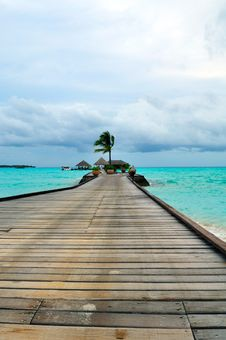 Free Maldives, Welcome To Paradise! Stock Image - 5855821