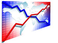Free 3d Line Charts Royalty Free Stock Photography - 5856097