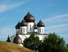 Cupola Of The Cathedral In Dmitrov S Citadel Royalty Free Stock Photos