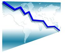 3d Line Chart Stock Photography