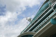 Cruise Ship At Dock Stock Photography