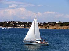 Free Single Yacht Stock Image - 5856341