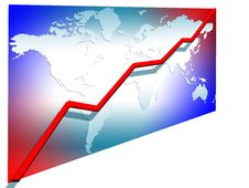 Free 3d Line Chart Stock Photography - 5856492