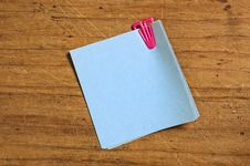 Free Post It With Plastic Clip Stock Images - 5857054