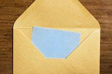 Free Open Golden Envelope. Royalty Free Stock Photo - 5857955