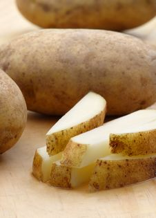 Fresh Cut Potatoes Royalty Free Stock Photo
