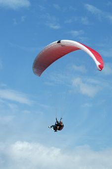 Tandem Paragliding Stock Photos