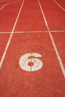 Free 6 On A Running Track  Line Royalty Free Stock Photo - 5858215