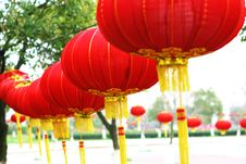 Free Red Chinese Lantern Royalty Free Stock Photo - 5858375
