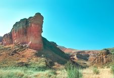 Free Escarpment On Mountain With Sandstone Royalty Free Stock Photography - 5858377