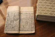 Old Chinese Style Book Royalty Free Stock Photos