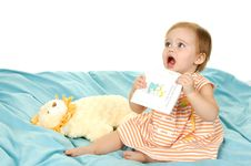 Free Baby Holding A Book Royalty Free Stock Photo - 5858675