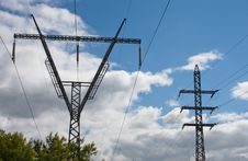 Power Transmission Transmission Towers Stock Image