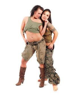 Sexy Army Women Royalty Free Stock Image
