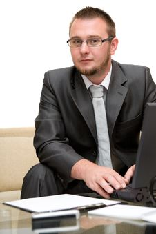 Free Man With Laptop Stock Photography - 5859572