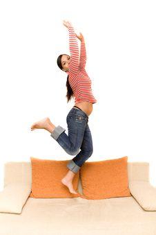 Free Jumping Woman Stock Photos - 5859583