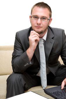 Free Man With Laptop Stock Photos - 5859603