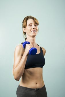Free Woman With Dumbbells Royalty Free Stock Photo - 5859755
