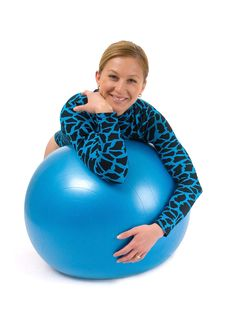Free Girl Behind Gym Ball Royalty Free Stock Photos - 5859988