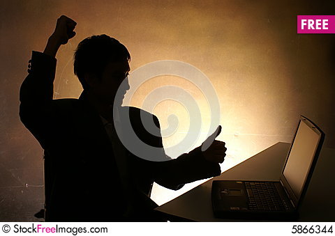 Free Man With Computer Stock Images - 5866344