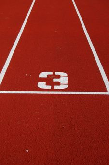 Free Running Track Number Royalty Free Stock Photos - 5860208