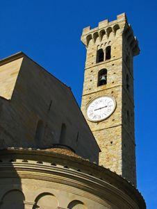 Free Italy San Gimignano Clock Tower Stock Photos - 5860563