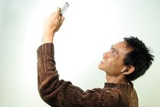 Free Man With Mobile Device Royalty Free Stock Photography - 5861447