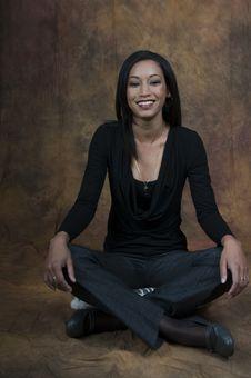 Free Simone Sitting Smiling Royalty Free Stock Photos - 5861478