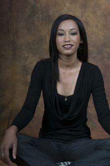 Free Simone Sitting Smiling Stock Photography - 5861522