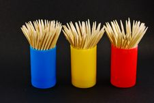 Free Toothpick Containers Colorful Stock Photo - 5861660