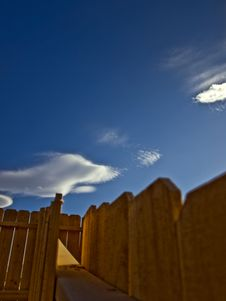 Free Fence Leading To The Sky Royalty Free Stock Images - 5861969