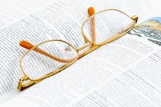 Free Glasses On A Book Royalty Free Stock Image - 5863116