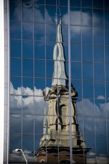 Free Reflection Of A Church Royalty Free Stock Photos - 5863138
