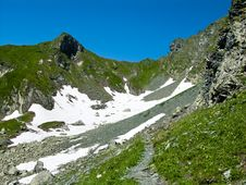 Valley In Romania Carpathian Stock Photo