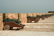 Free Ancient Cannons Royalty Free Stock Image - 5863256