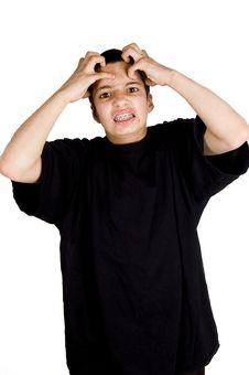 Free Frustrated Teenage Boy Royalty Free Stock Image - 5863696