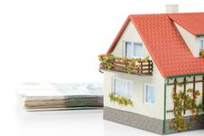 Free Miniature House And Money. Royalty Free Stock Photography - 5864217