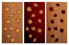 Free Wood Autumn Leaves Compositions Royalty Free Stock Image - 5864816