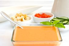 Free Tomato Cold Soup Stock Images - 5865064