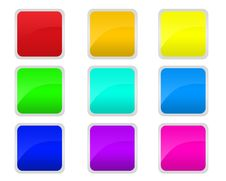 Free Colored Buttons Royalty Free Stock Photography - 5865747